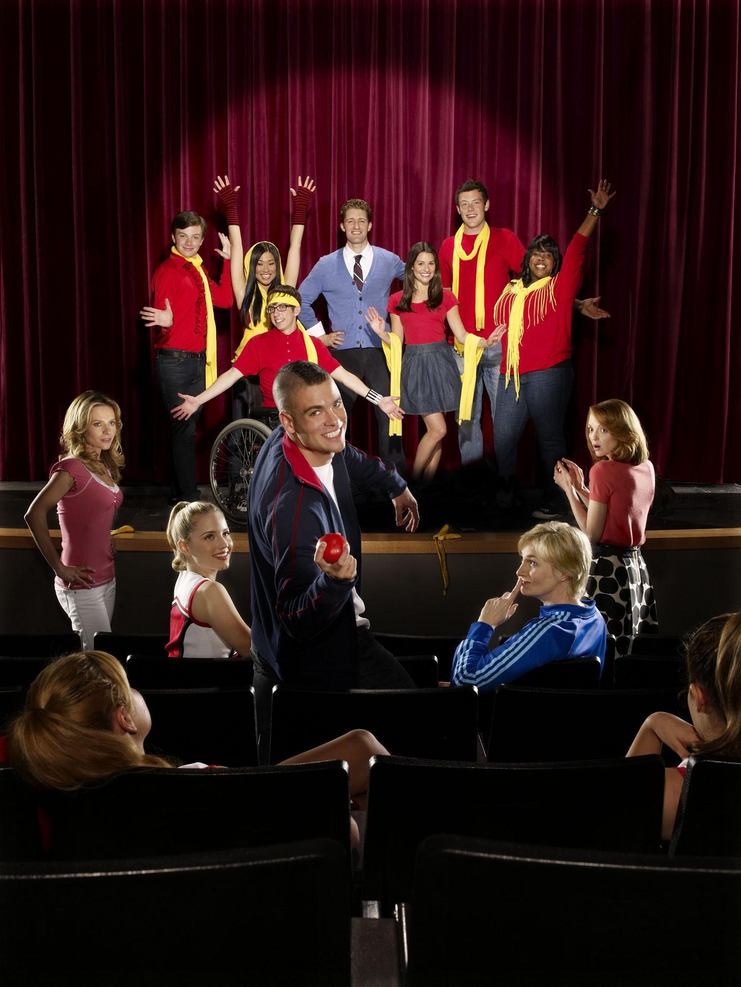 Cory Monteith,Dianna Agron,Jane Lynch,Jayma Mays,Jessalyn Gilsig,Lea Michele,Matthew Morrison