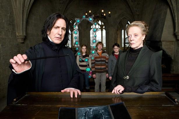 Alan Rickman,Daniel Radcliffe,Emma Watson,Maggie Smith,Rupert Grint