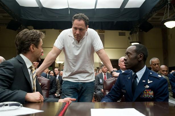 Don Cheadle,Jon Favreau,Robert Downey Jr.