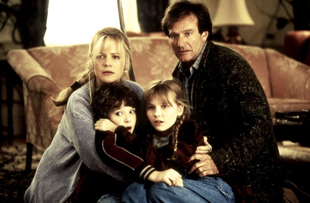 Bonnie Hunt,Bradley Pierce,Kirsten Dunst,Robin Williams