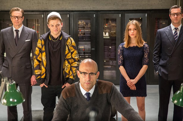 Colin Firth,Mark Strong,Sophie Cookson,Taron Egerton