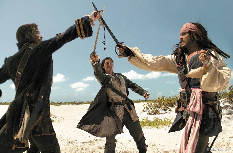 Jack Davenport,Johnny Depp,Orlando Bloom