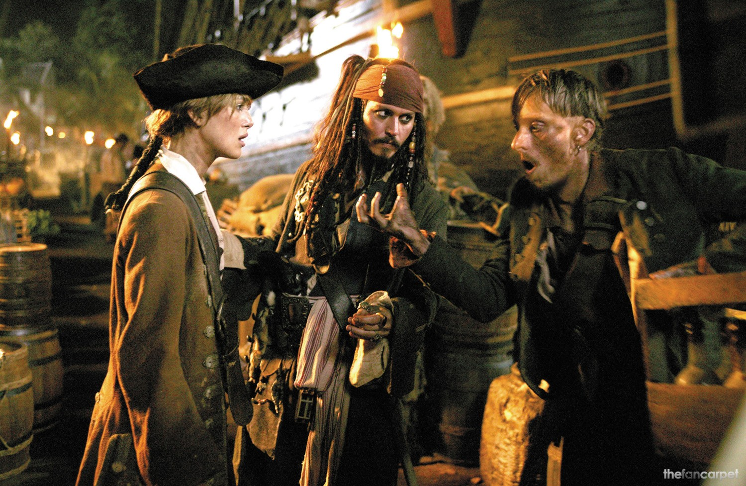 Johnny Depp,Keira Knightley,Mackenzie Crook