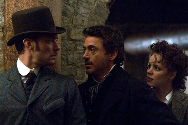 Jude Law,Rachel McAdams,Robert Downey Jr.