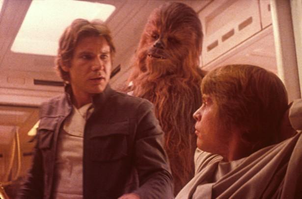 Harrison Ford,Mark Hamill,Peter Mayhew