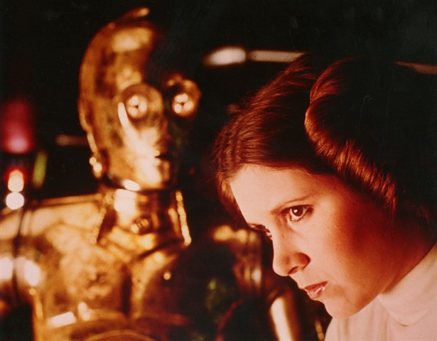 Anthony Daniels,Carrie Fisher