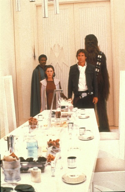 Billy Dee Williams,Carrie Fisher,Harrison Ford,Peter Mayhew