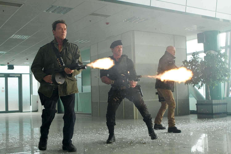 Arnold Schwarzenegger,Bruce Willis,Sylvester Stallone
