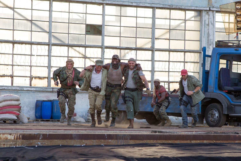 Dolph Lundgren,Jason Statham,Sylvester Stallone,Terry Crews,Wesley Snipes