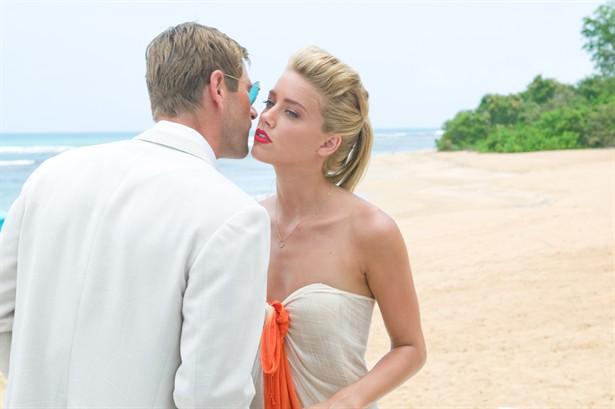 Aaron Eckhart,Amber Heard