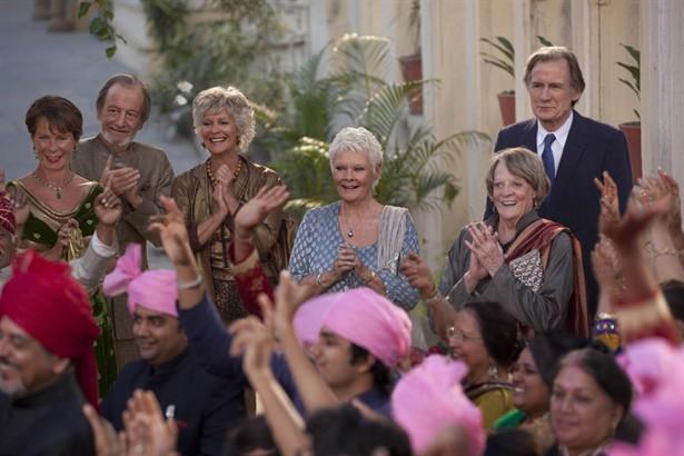 Bill Nighy,Celia Imrie,Dev Patel,Judi Dench,Maggie Smith