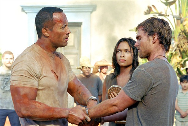 Dwayne Johnson, Rosario Dawson, Seann William Scott