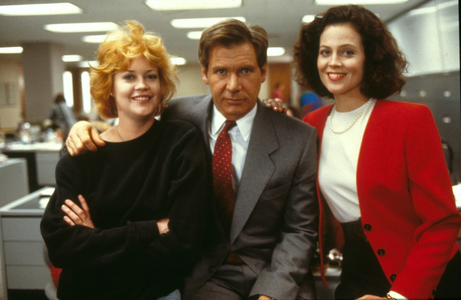 Harrison Ford,Melanie Griffith,Sigourney Weaver