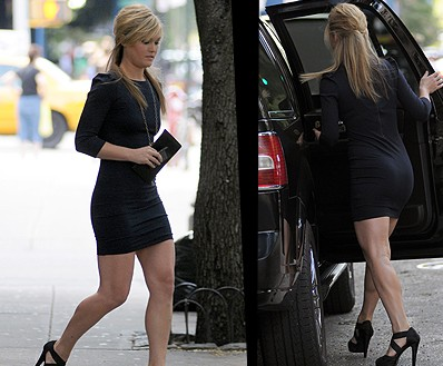 Check Out Julia Stiles Rocking A Sexy Lbd And Some Stunning Dana Davis Alana Heels In Black Satin As She Gets Into A Car On Sunday Looking Very Business