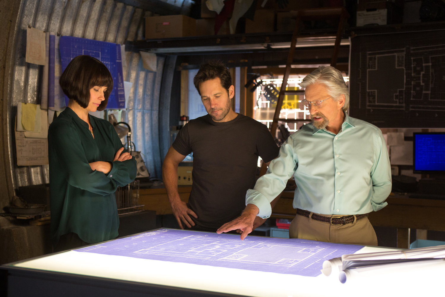 Paul Rudd, Evangeline Lilly, Michael Douglas