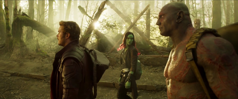 Chris Pratt, Dave Bautista, Zoe Saldana