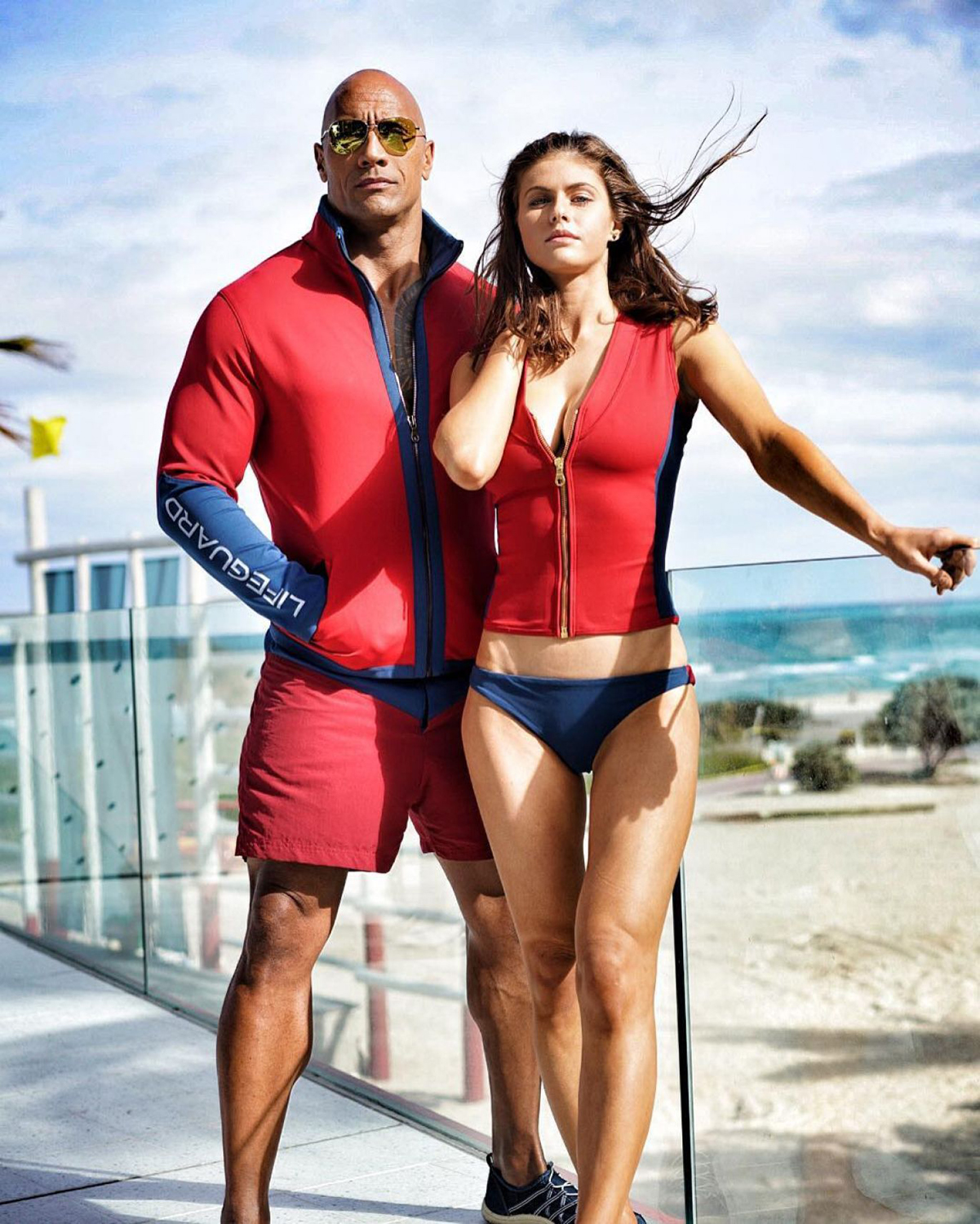 Alexandra Daddario, Dwayne 'The Rock' Johnson
