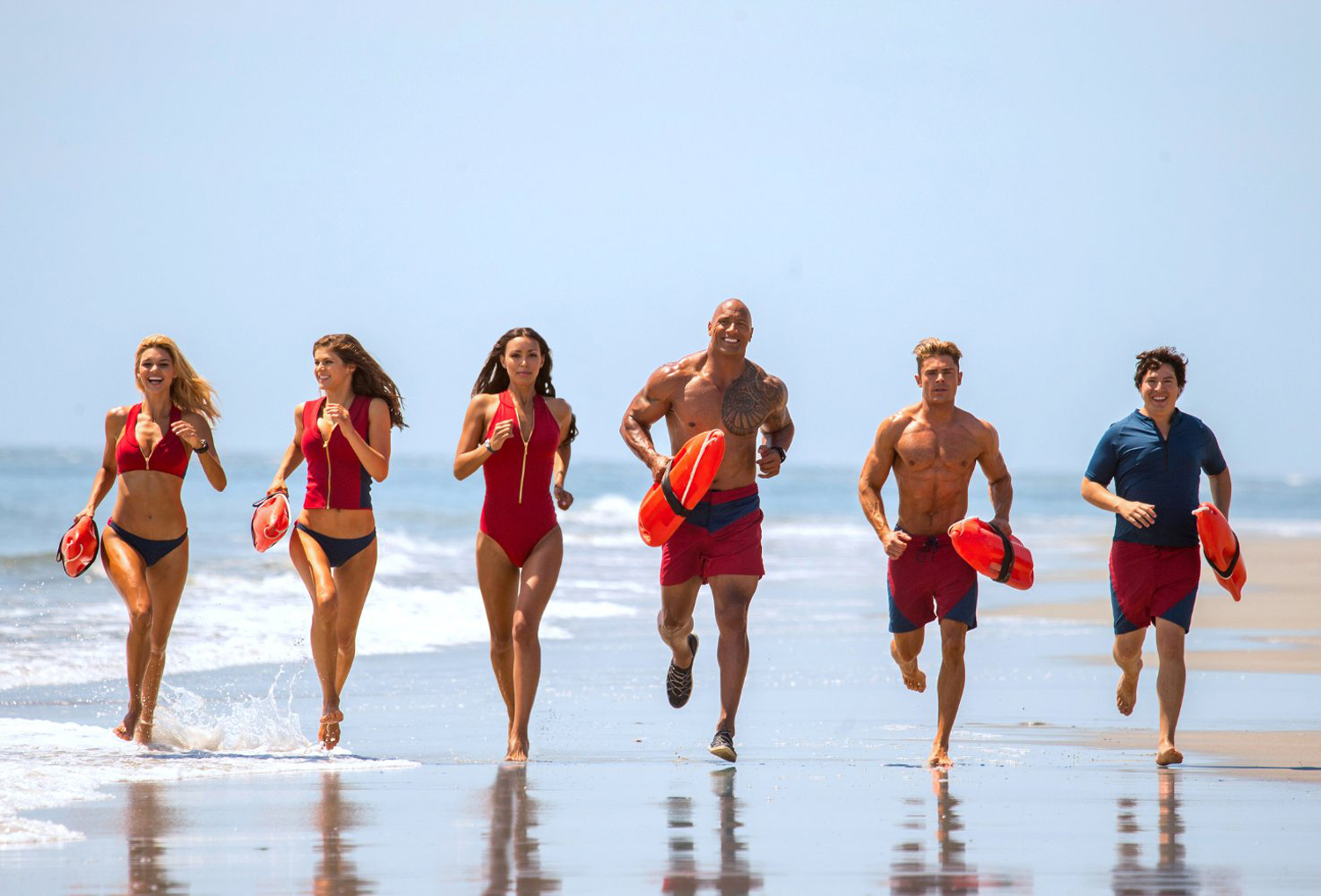 Kelly Rohrbach, Zac Efron, Alexandra Daddario, Dwayne 'The Rock' Johnson
