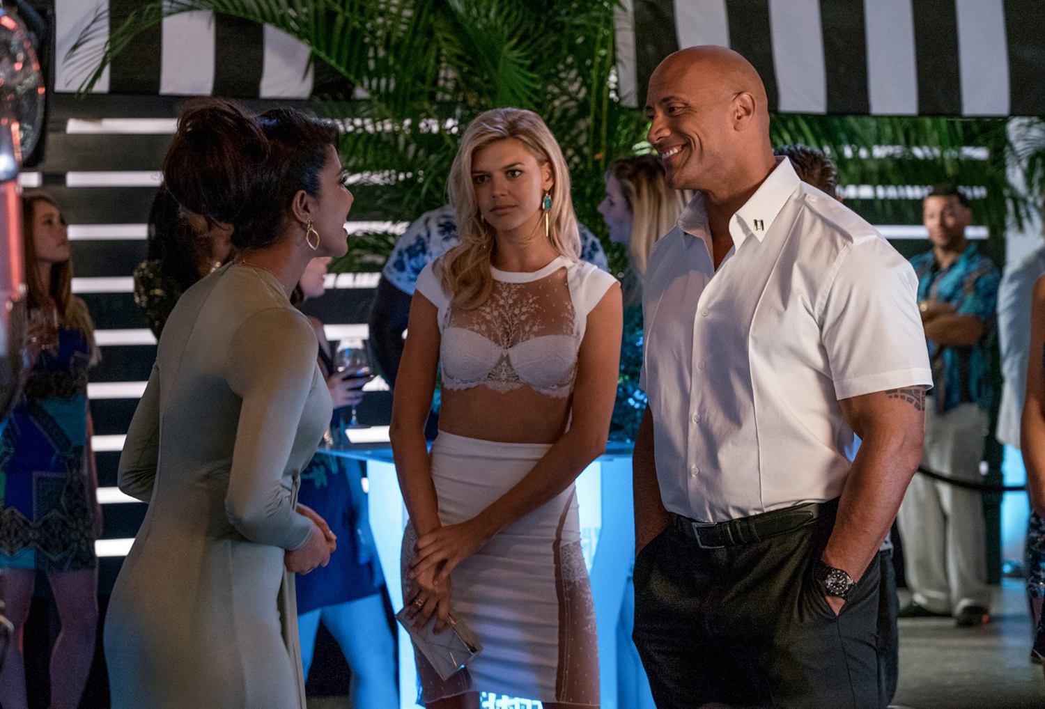 Kelly Rohrbach, Priyanka Chopra, Dwayne 'The Rock' Johnson