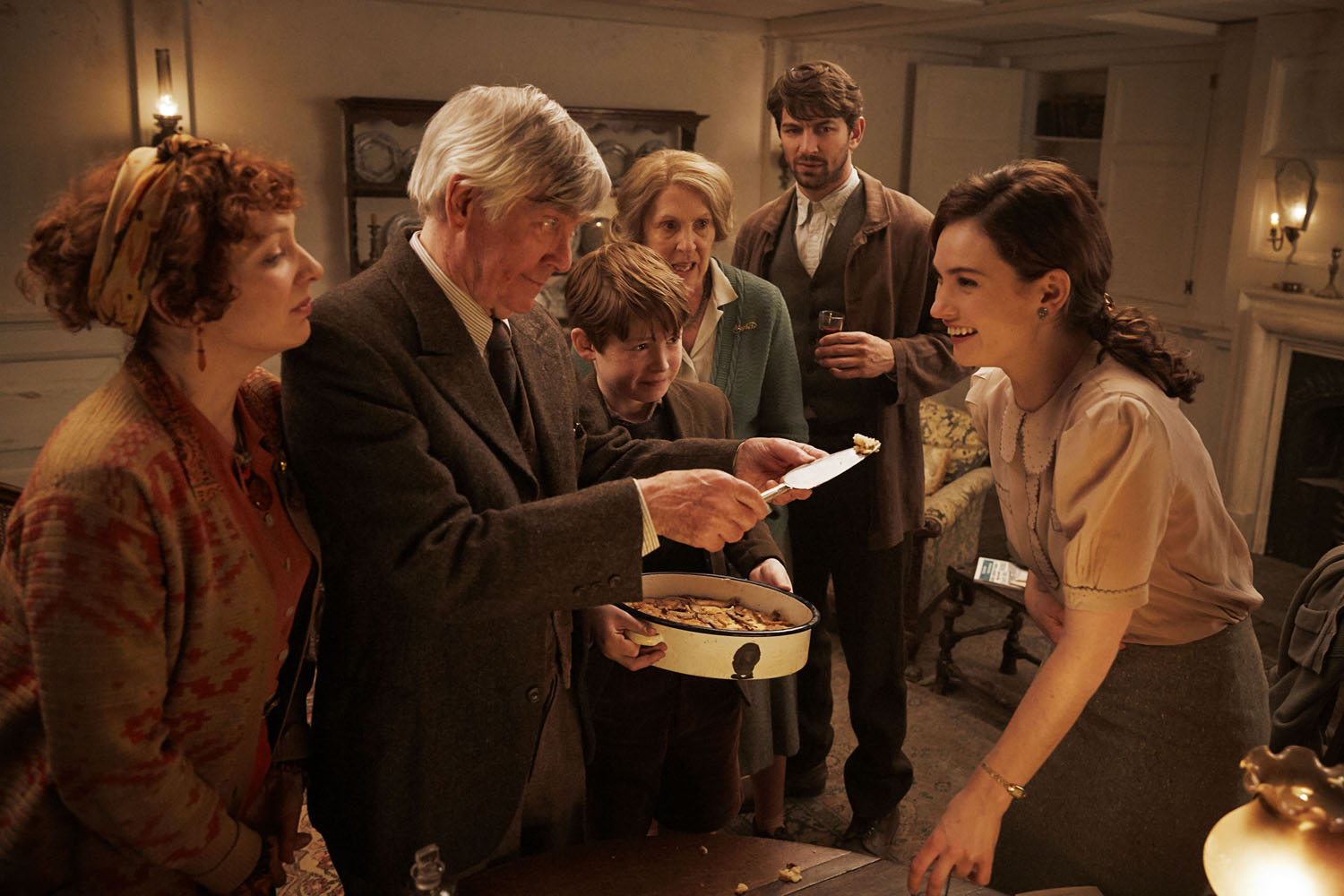 Lily James, Michiel Huisman, Tom Courtenay