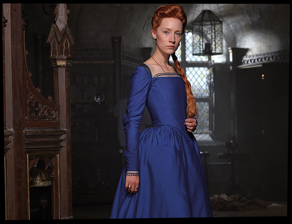 Here's a very regal-looking Saoirse Ronan as Mary, Queen Of Scots