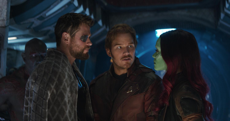 Chris Hemsworth, Chris Pratt, Zoe Saldana, Dave Bautista