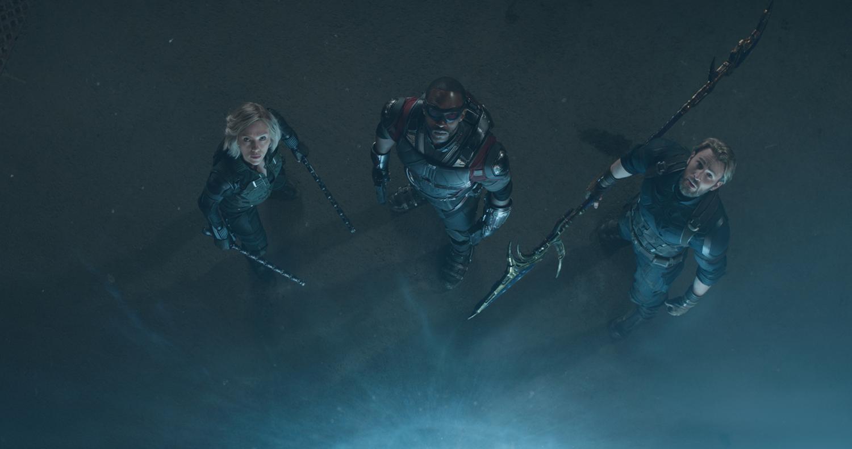 Scarlett Johansson, Anthony Mackie, Chris Evans