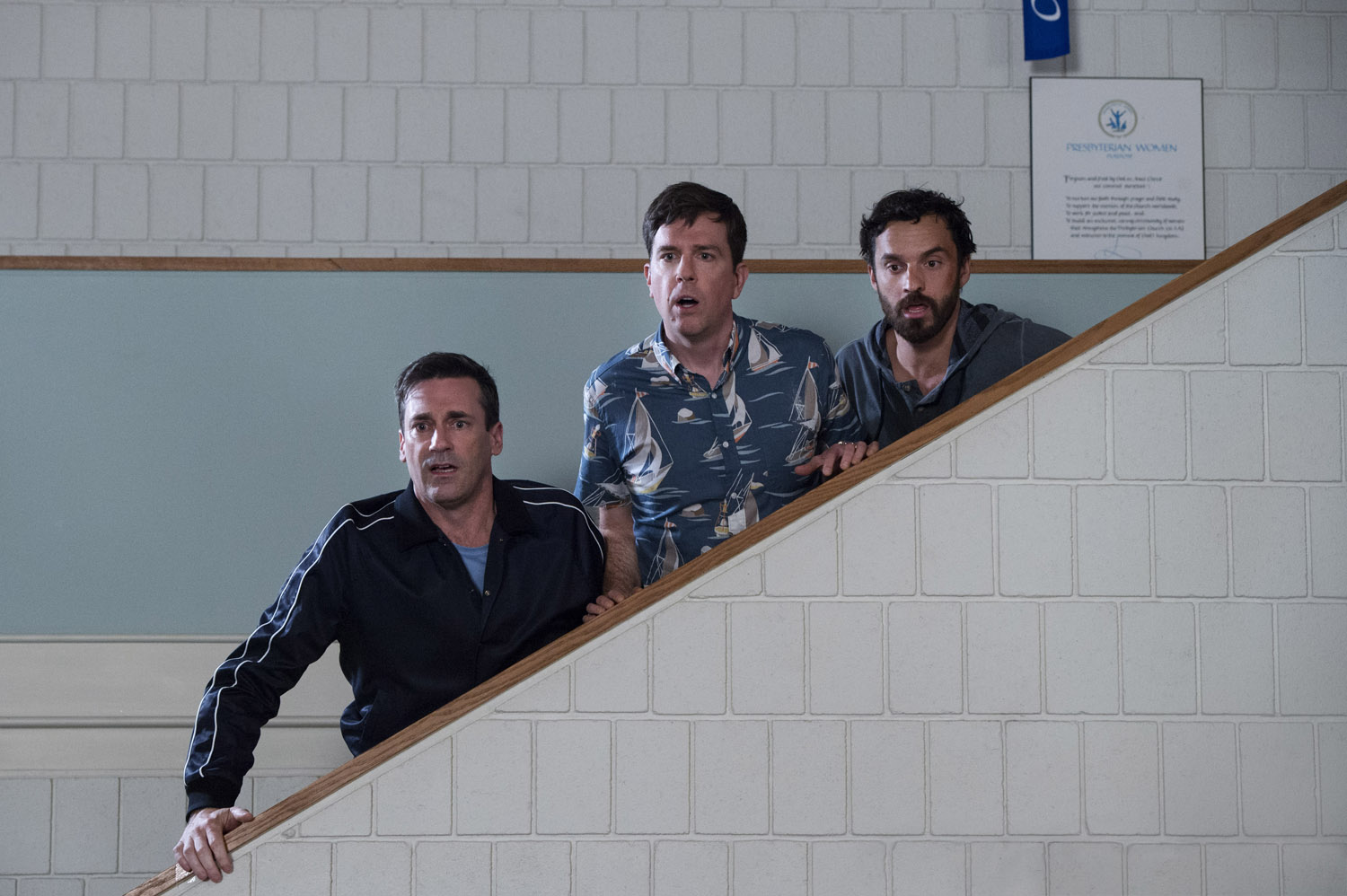 Jon Hamm, Ed Helms, Jake Johnson