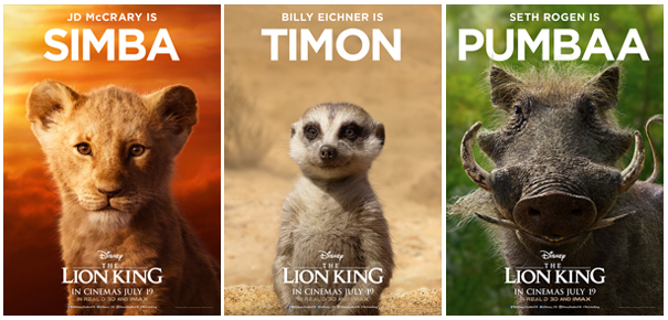 everything the light touches is our kingdom  disney unveil the character poster set for the lion